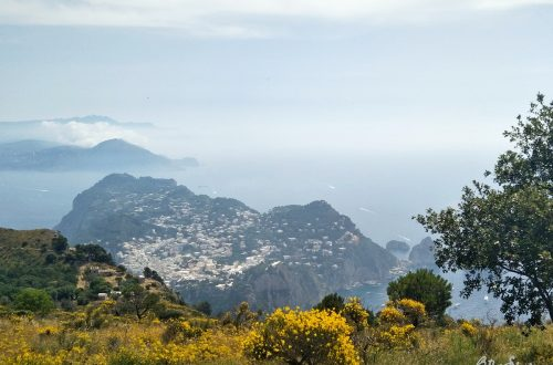 Blick auf Capri von Monte Solaro