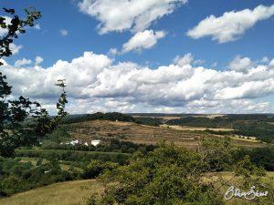 Blick zurück auf den Disibodenberg.