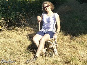 Stuhl in freier Natur: Kurze Trinkpause bei Waldrode.