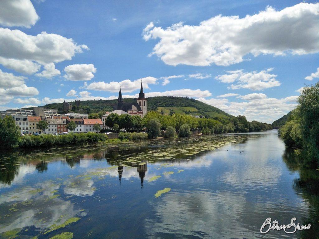 Bingen am Zusammenfluss von Nahe und Rhein.