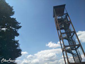 Rodfeldturm, der Aussichtsturm am Fernblick von Neuses.