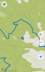 Screenshot MAPS.ME: Unbewusste Abkürzung gewählt!