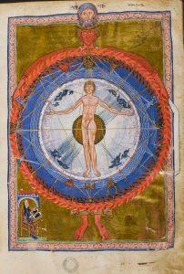 """Miniatur aus dem """"Buch der Göttlichen Werke"""""""