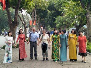Hanoi in besseren Tagen. Touristen nicht aus meiner Gruppe.