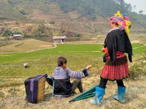 So kann es aussehen: Wandern im Bergland von Vietnam.