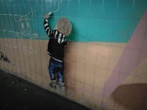 Graffiti am Bahnhof on Gelnhausen.