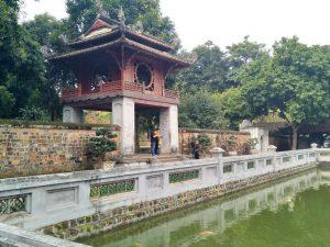 Der Literaturtempel - die erste Universität Vietnams aus dem 11. Jh. - nur für uns.