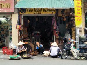 Straßenszene in Hanoi vor dem großen Lockdown.